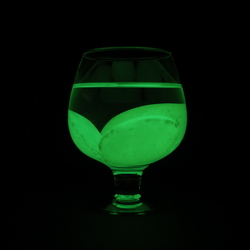 Glow in the dark glass