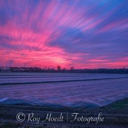 Zonsondergang in Heemskerk