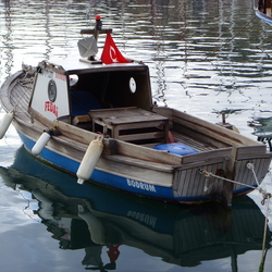 Visserbootje Bodrum Turkije