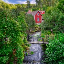 Rood huisje in Zweden
