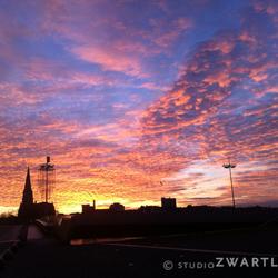 Waanzinnige ochtendlucht in Maastricht