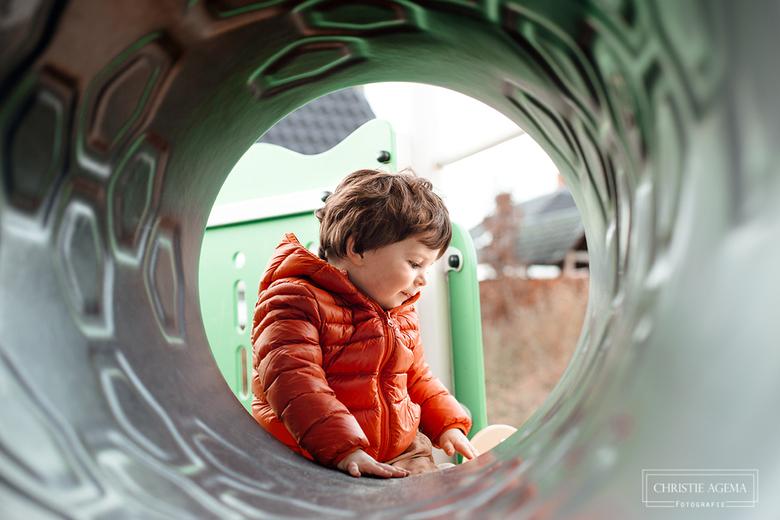 In de speeltuin -
