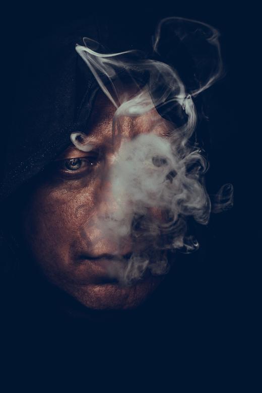 smoke - Fire in the heart sends smoke into the head.