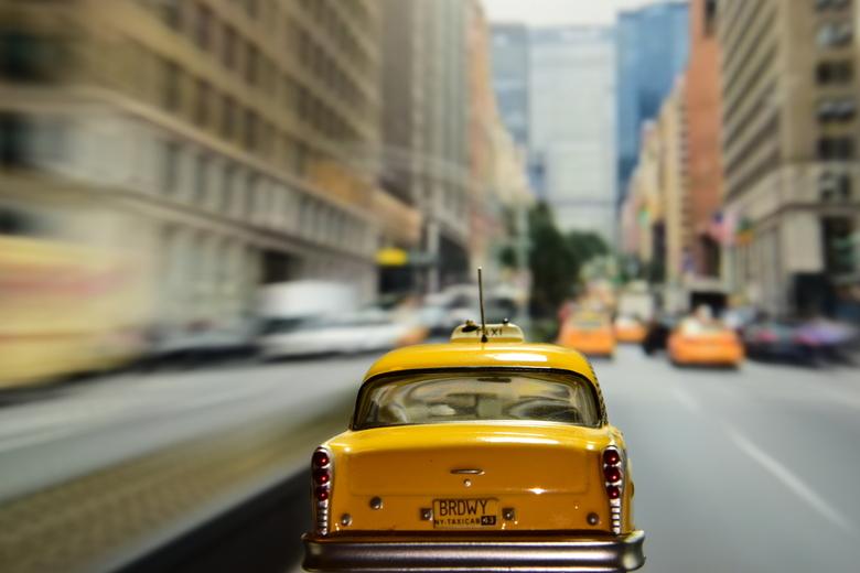 Yellow Cab in zijn natuurlijke habitat ;) - De enige echte New Yorkse Yellow Cab, de Checker Marathon, in zijn natuurlijke habitat ...<br /> We hebbe