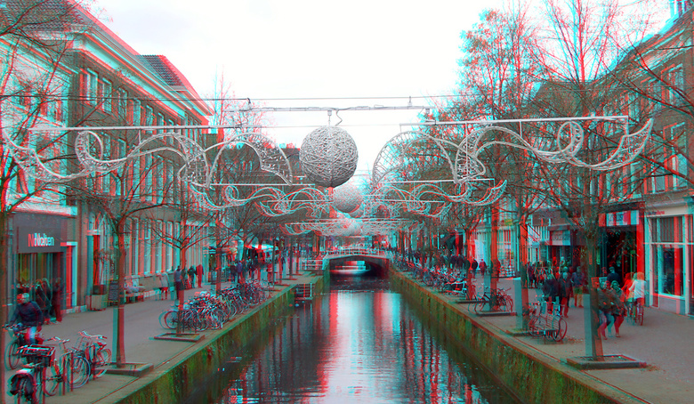 gracht Delft 3D anaglyph - gracht Delft 3D anaglyph<br />