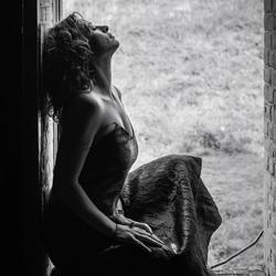 In a window...