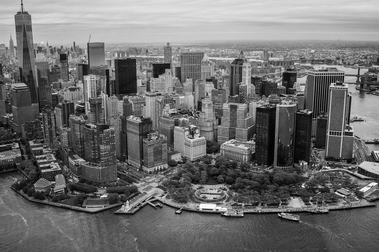 Financial District, New York City - Skyline van het Financial District, NYC<br /> Gemaakt vanuit een helikopter, tijdens een vlucht boven New York