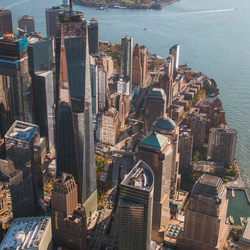 Manhatten NYC van boven!