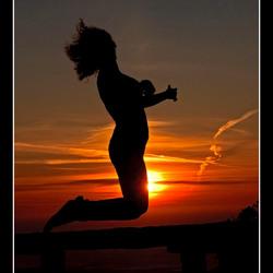 Sprong in de zon
