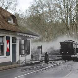 Tolhuisje Naarderstraat in Huizen. (oud en nieuw)