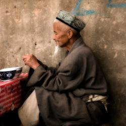 etensmarkt in kasghar, china
