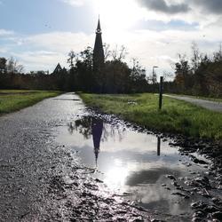 Lekker door de plassen in Bovenkerk