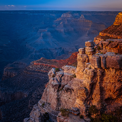 Last sunlight over the Grand Canyon