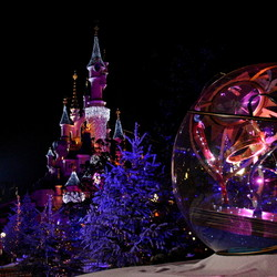 Euro Disney bij nacht