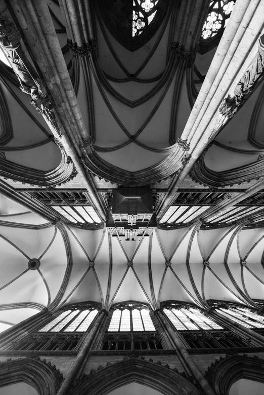 The Organ - Deze foto is genomen in de Dom in Keulen. In zwartwit, om het contrast en de nuances in het dak beter uit te laten komen.