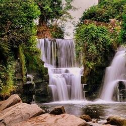 Waterval in Penllergaer (Wales, UK)
