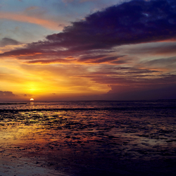 zonsondergang waddenzee duitsland