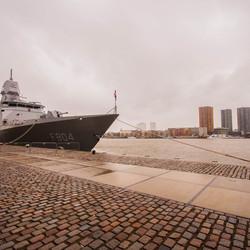 Marineschip in Rotterdam
