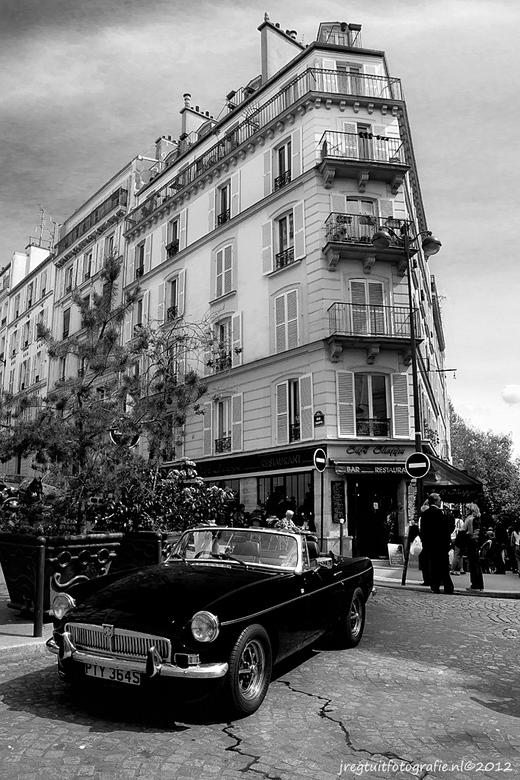 toen of nu - in de straten van Parijs