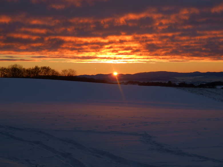 Sunset in the snow -