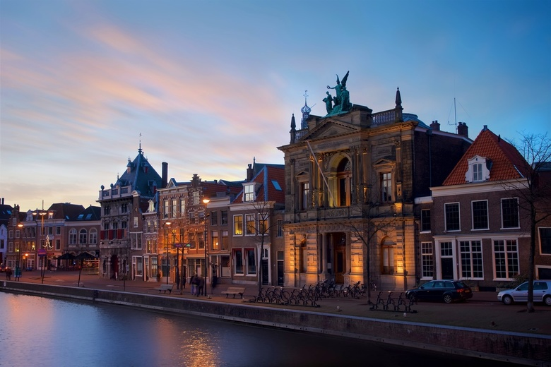 Teylers Museum at dusk - This was my time to try out my new camera (at that time) and Zeiss lens. The best scenario was blue/golden hours going around