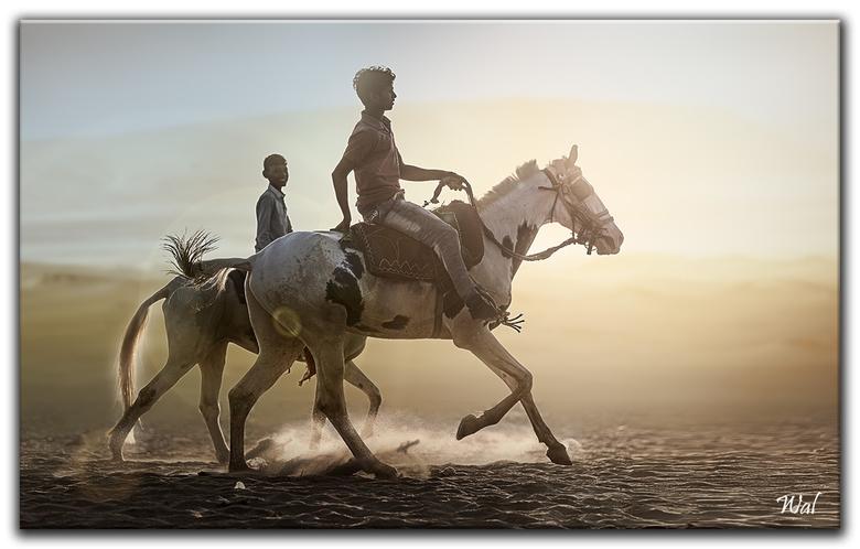 Portraits Of India - Paardrijden langs de Ganges.<br /> <br /> Bedankt voor jullie reacties, Wal