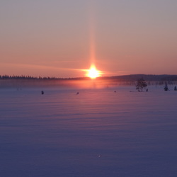 Finland winter sunset
