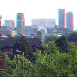 Zicht vanaf Rooftopbar Hofplein Rotterdam 3D