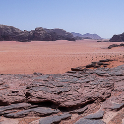 Wadi Rum panorama woestijn Jordanië