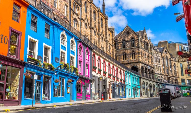 Victoriastreet Edinburgh - Tijdens onze vakantie in Schotland de hoofdstad Edinburgh bezocht. oa de royal mile gelopen maar ook Victoriastreet bekeken