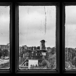 Uit het raam starend....