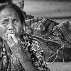 Vrouw op de markt Cambodia