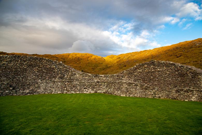 Castlecove Staigue Fort - Ierland, Castlecove Fort. Een indrukwekkend overblijfsel van een fort in het prachtige landschap van Kerry.