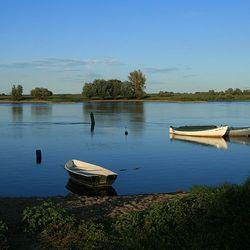 Zicht op de Elbe...
