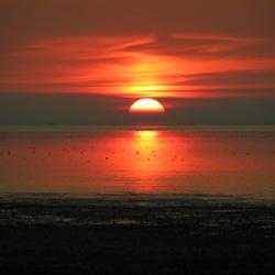 Zonsondergang Zwarte Haan.