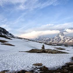 Op weg naar de Lötschenpasshütte