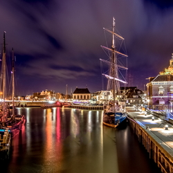 Harlingen by night