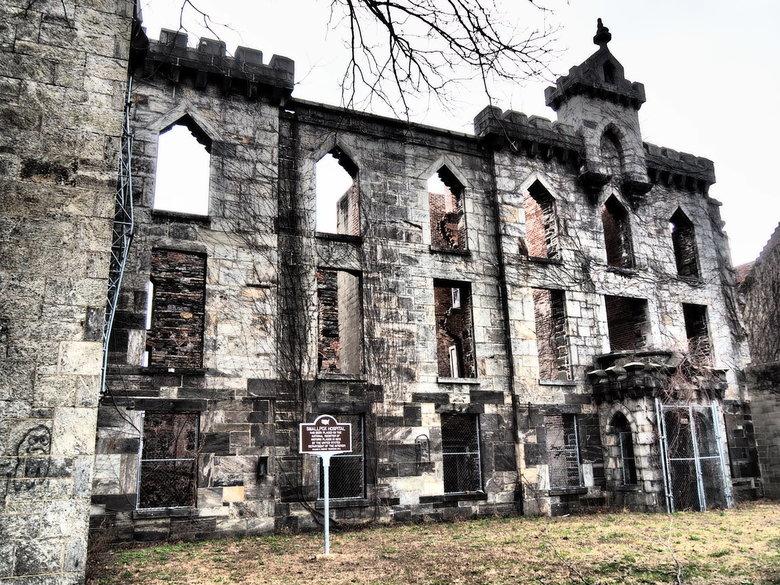 Hospital ruïne - Verlaten hospital op Roosevelt Island, New York City