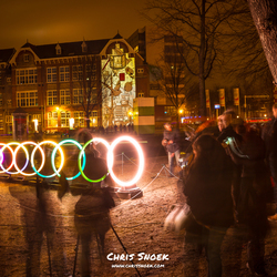 Busy times at the bands of friendship - Amsterdam Light Festival 2016