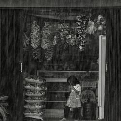 Schuilen in een toko
