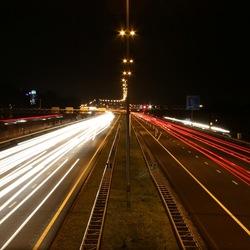 A12 bij avond