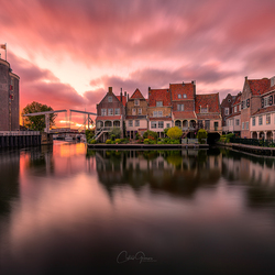 Sunset explosion in Enkhuizen