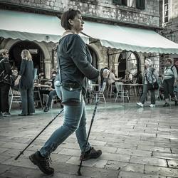 Nordic walking...