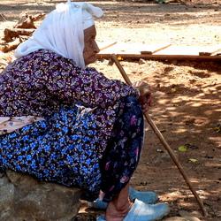 oud turks vrouwtje.