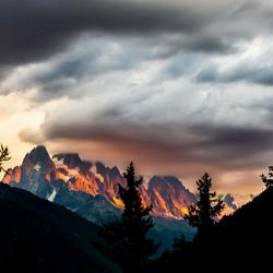 Alp sunset