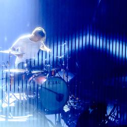 Drummer Jamie Westland in Paradiso Amsterdam