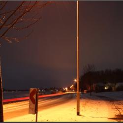 Wijmersweg bij nacht