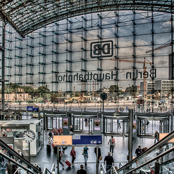 de nieuwe stations hal van DB in Berlijn