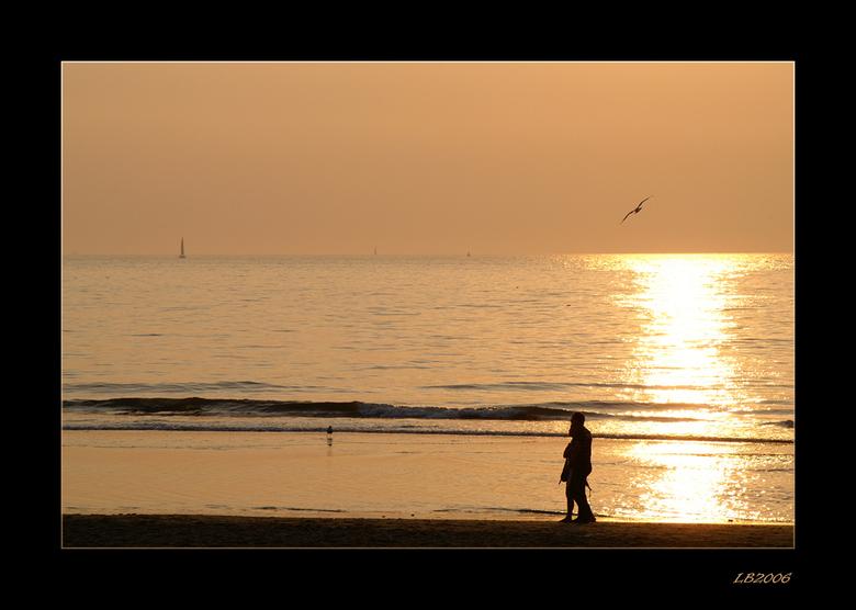 Sunset - mooi weer op Scheveningen.