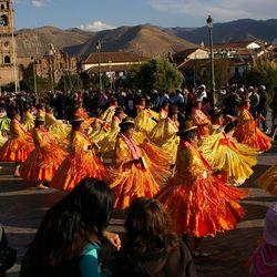 Processie in Cuzco Peru